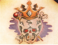 Skull wear  crown Tattoo 2