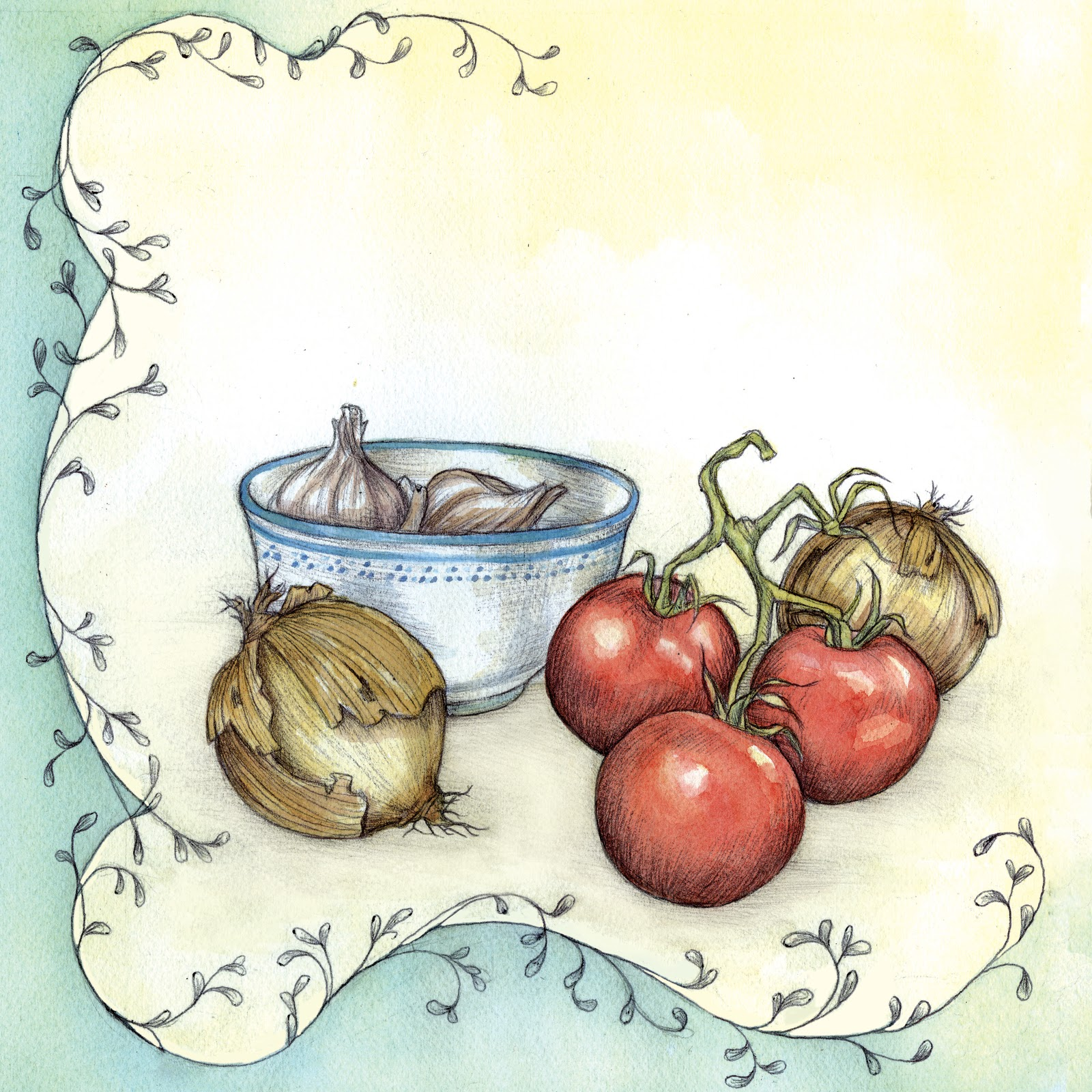 Catherine Fontenot: Illustrations & Such: For a cookbook ...