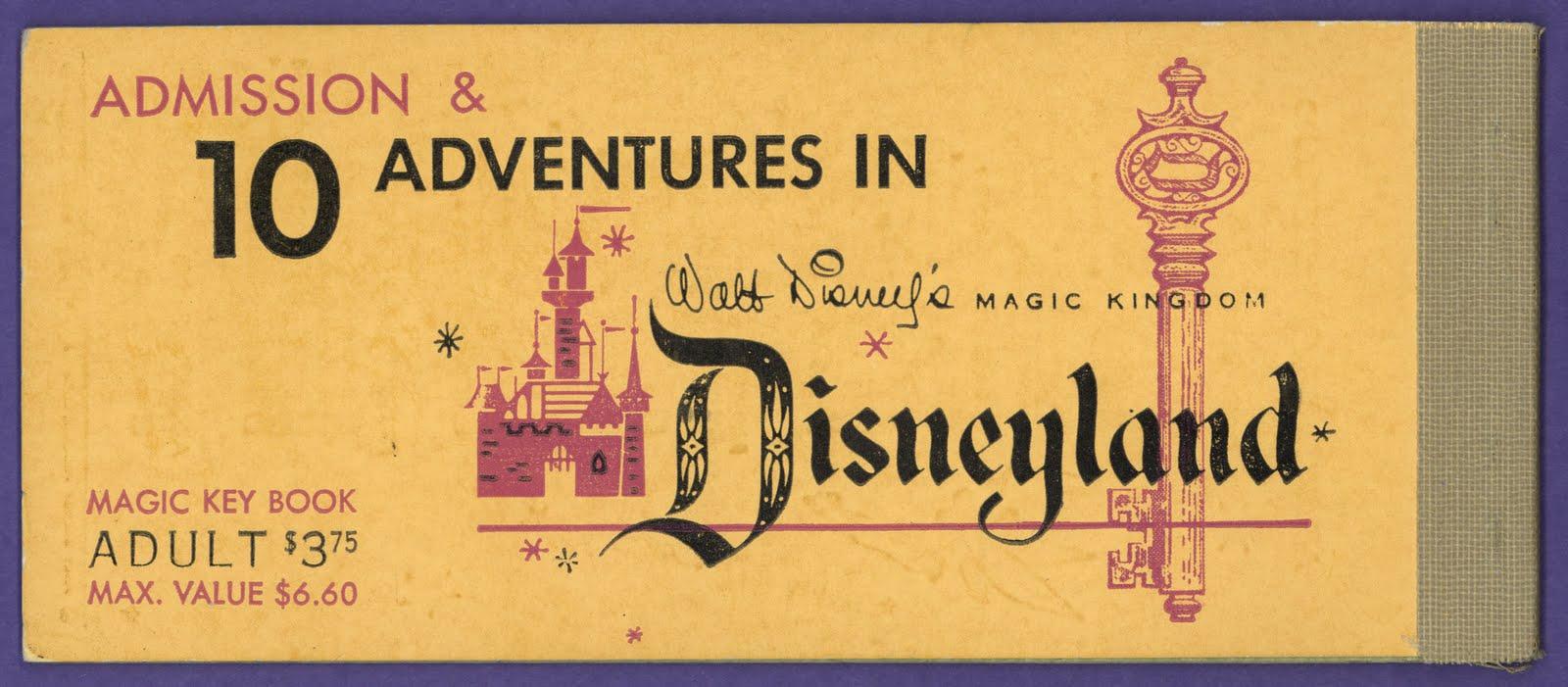 Vintage Disneyland Tickets: Magic Kingdom Club Ticket Book ...
