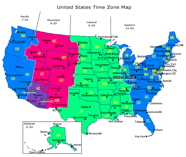 The12 News: Eastern Official Time Zone