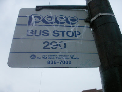 Rogers Park in 1,000 words: Pace 290 bus stop at Rogers and Damen