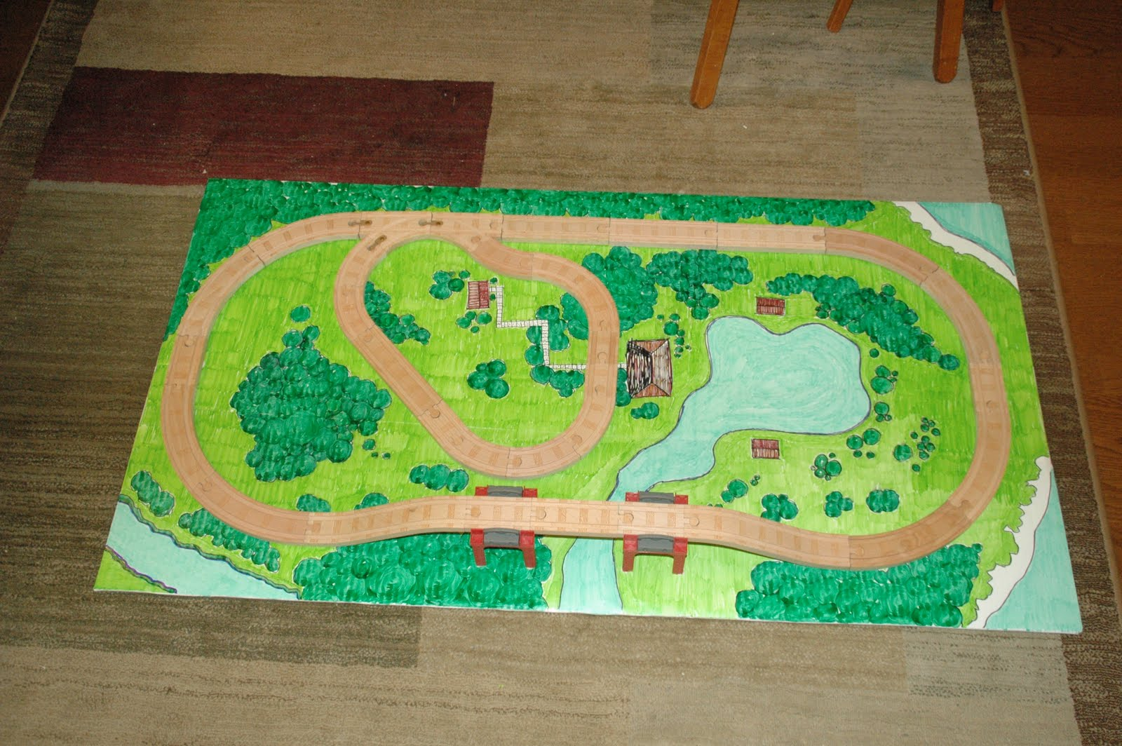 Mom S Daily Adventures Diy Train Playboard Tutorial For