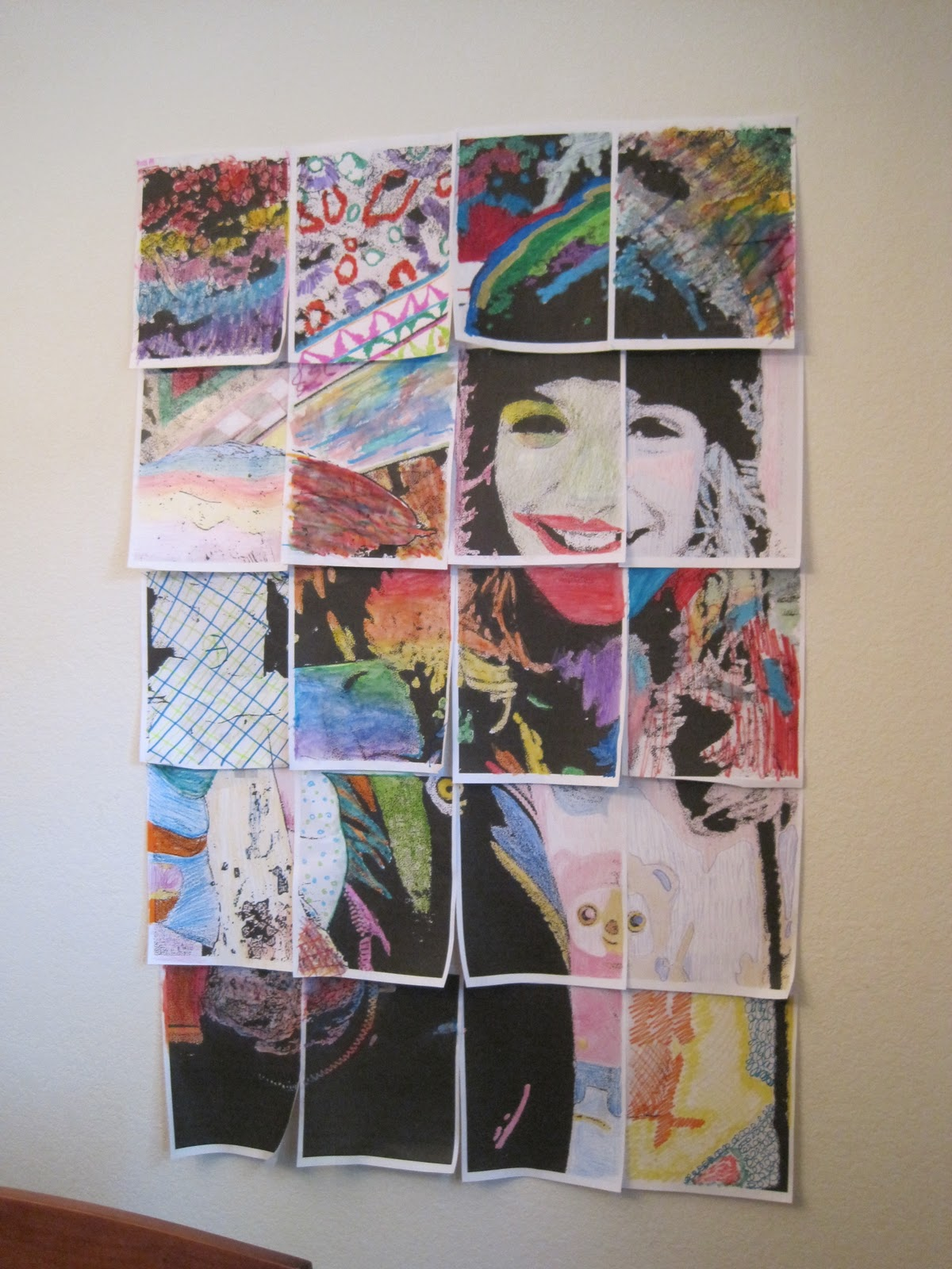Squidalicious Cheap Fun Art Projects How To Collaborative Photo Mosaic