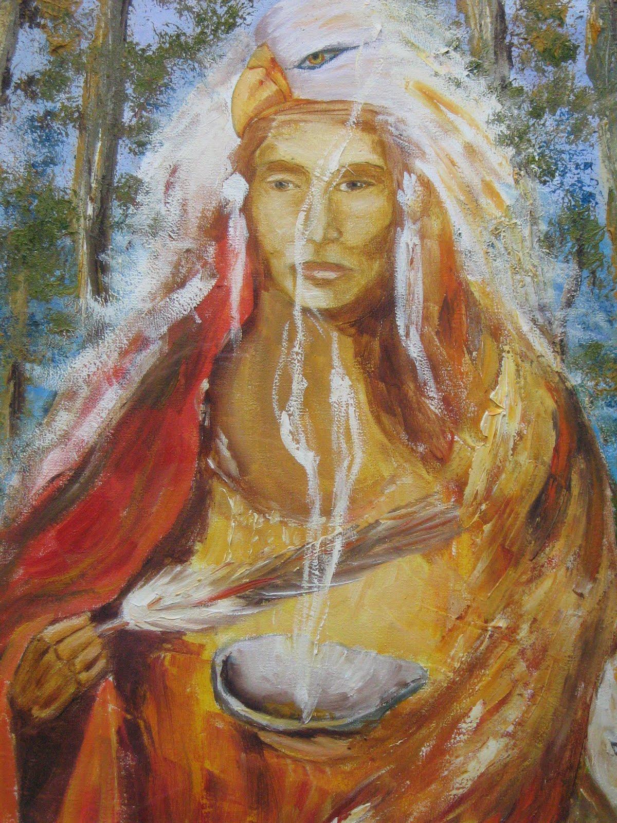 Medicine Woman Tarot By Carol Bridges: Lizfrancisart: Medicine Woman