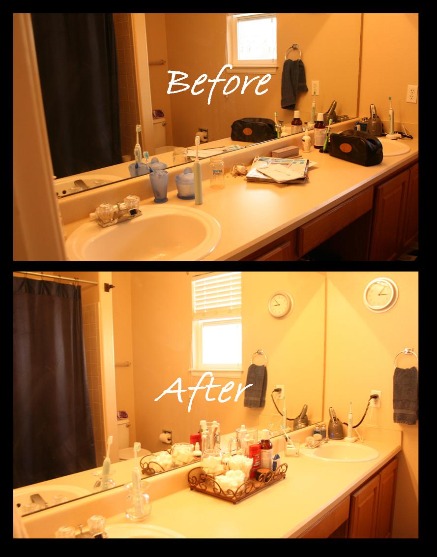 Delightfully Organized Quick Amp Simple Bathroom Vanity Makeover