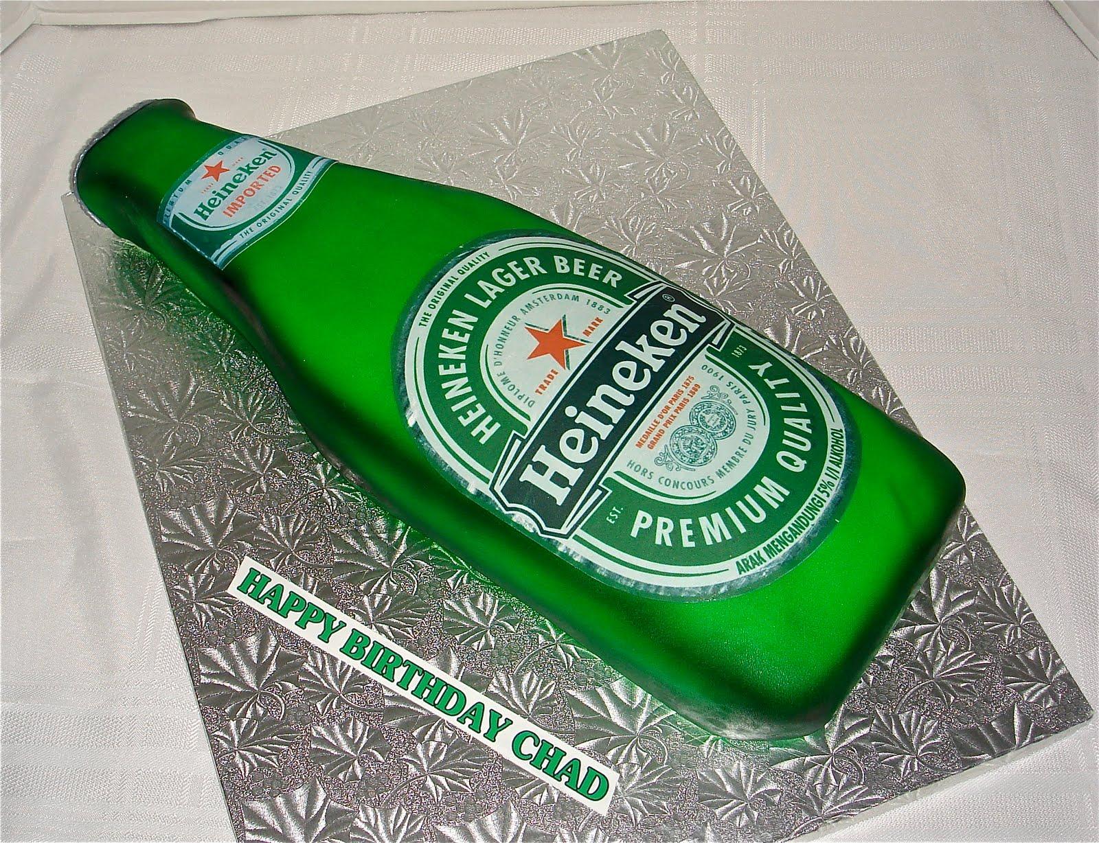 Heineken Beer Bottle Birthday Cake