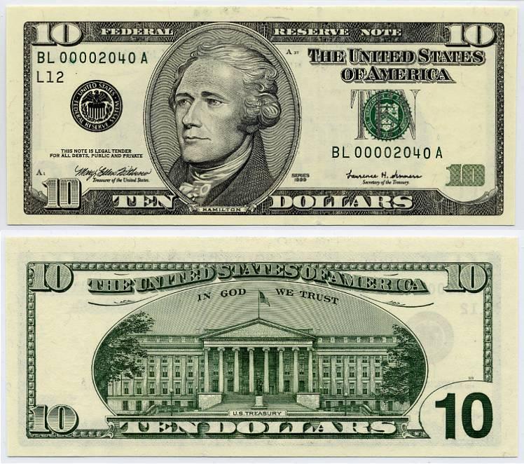 Dollar Bill Actual Size Templates