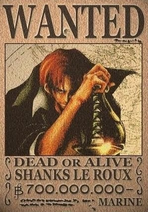 Red Haired Shanks Le Roux One PIece | Anime Fairy Blog | 298 x 428 jpeg 52kB