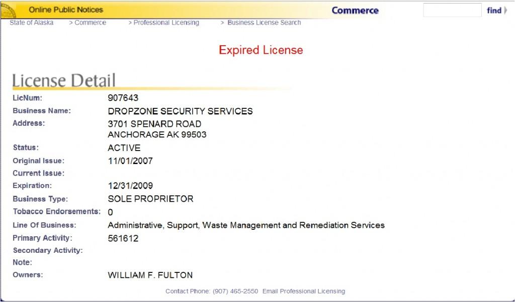 Madison : Business license alaska