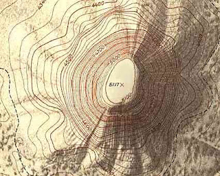 Topographic Map Of A Mountain.Mapz Topographic Map