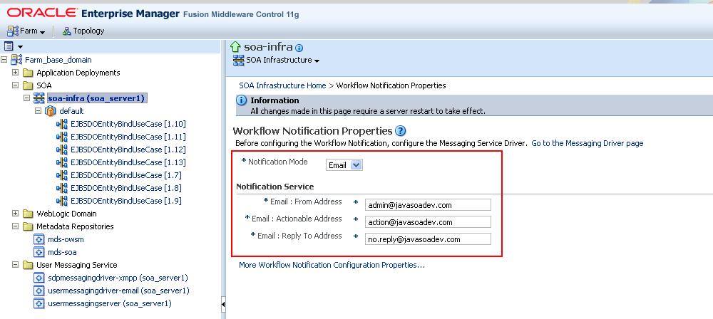 Beginning Java & SOA Development: Using GMail as Mail Server