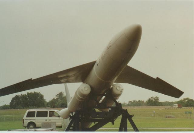 Snark missile on outside display at Dayton, 1990s.