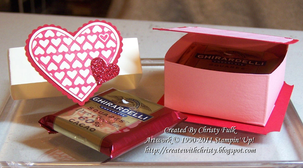 Create With Christy: Ghirardelli Box Favor