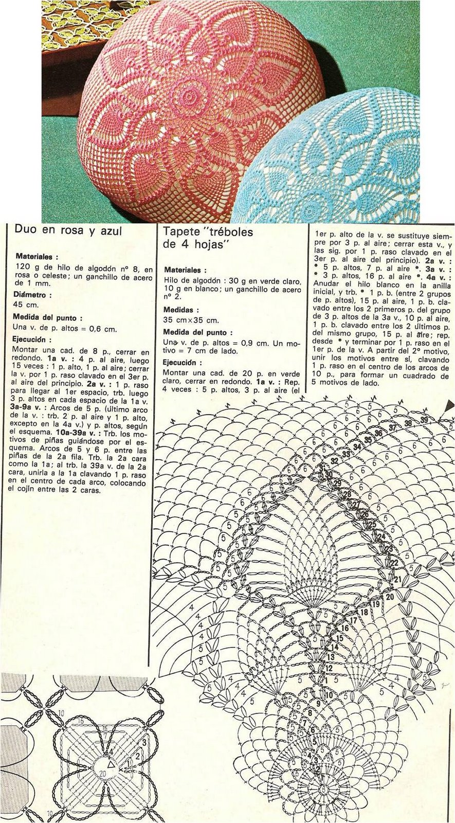 Excelente Grandes Patrones De Crochet Tapete Componente - Ideas de ...