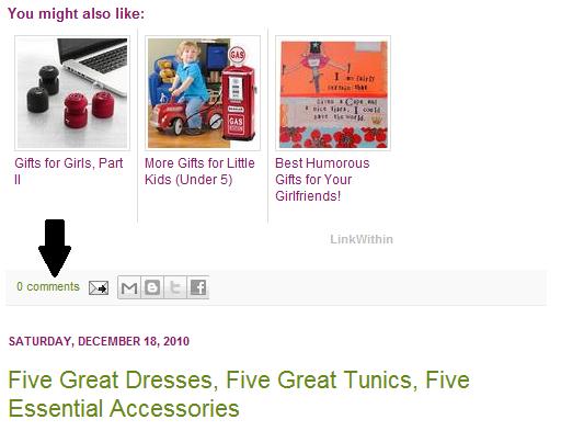 The Little Blog Dress: Leaving Comments on Blogger