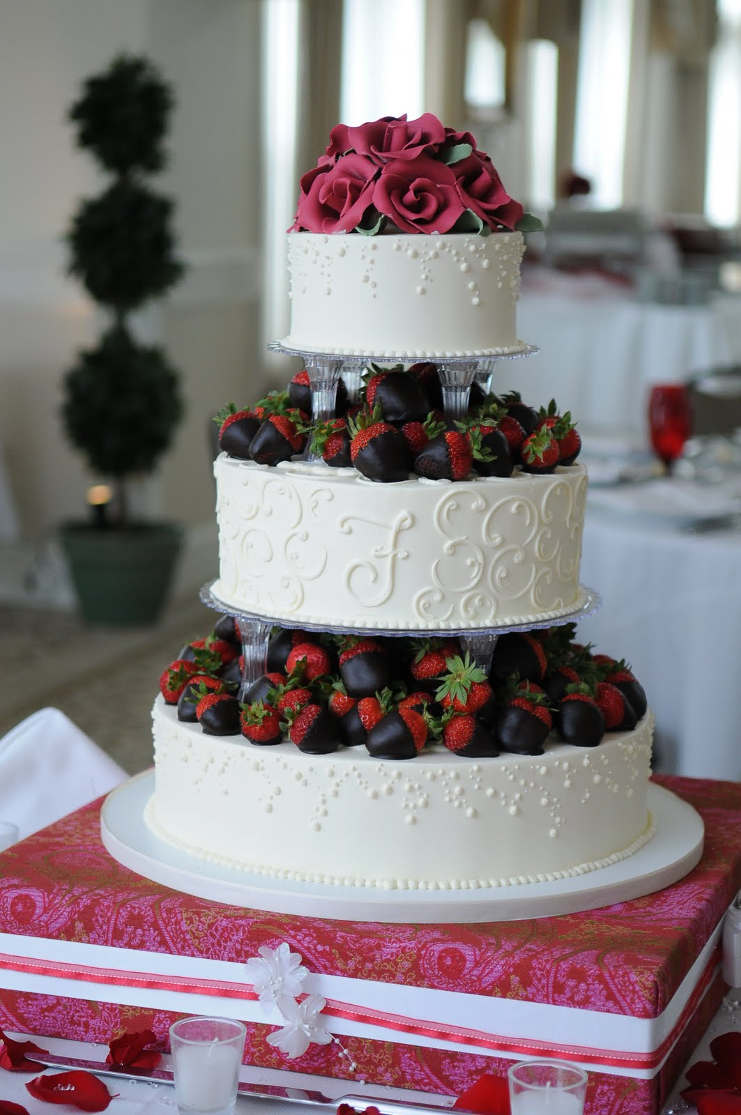 wedding cakes with chocolate covered strawberries on top dessert works bakery chocolate dipped strawberries 26006