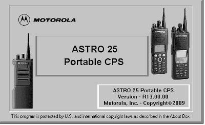 ASTRO 25 Portable CPS R13 00 00