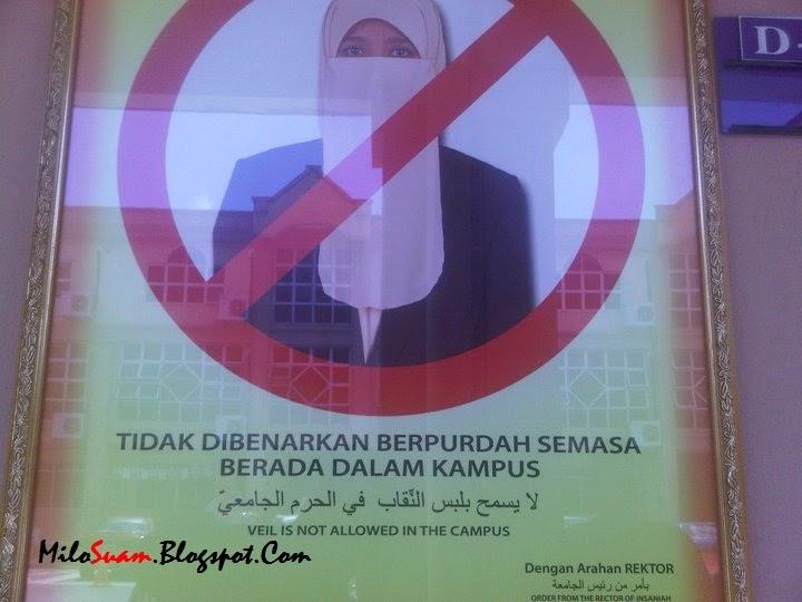 Universiti Di Malaysia Haramkan Pelajar Berpurdah