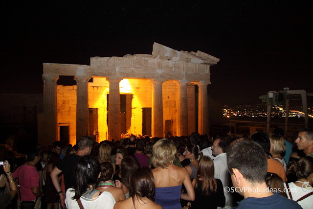 Acropolis propylaea (entrance) - croud on the way out