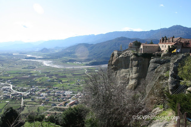 The Thessaly plain viewed from Meteora tops