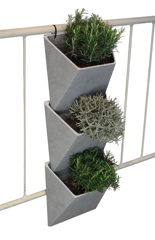 vertvert pflanzbeh lter rephorm design f r den balkon. Black Bedroom Furniture Sets. Home Design Ideas