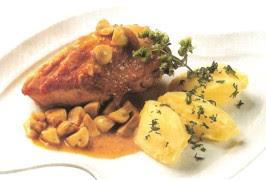 Receta de Pollo en Salsa de Champiñones y Curry