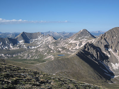 The view from the summit of Mt. Belford in Colorado