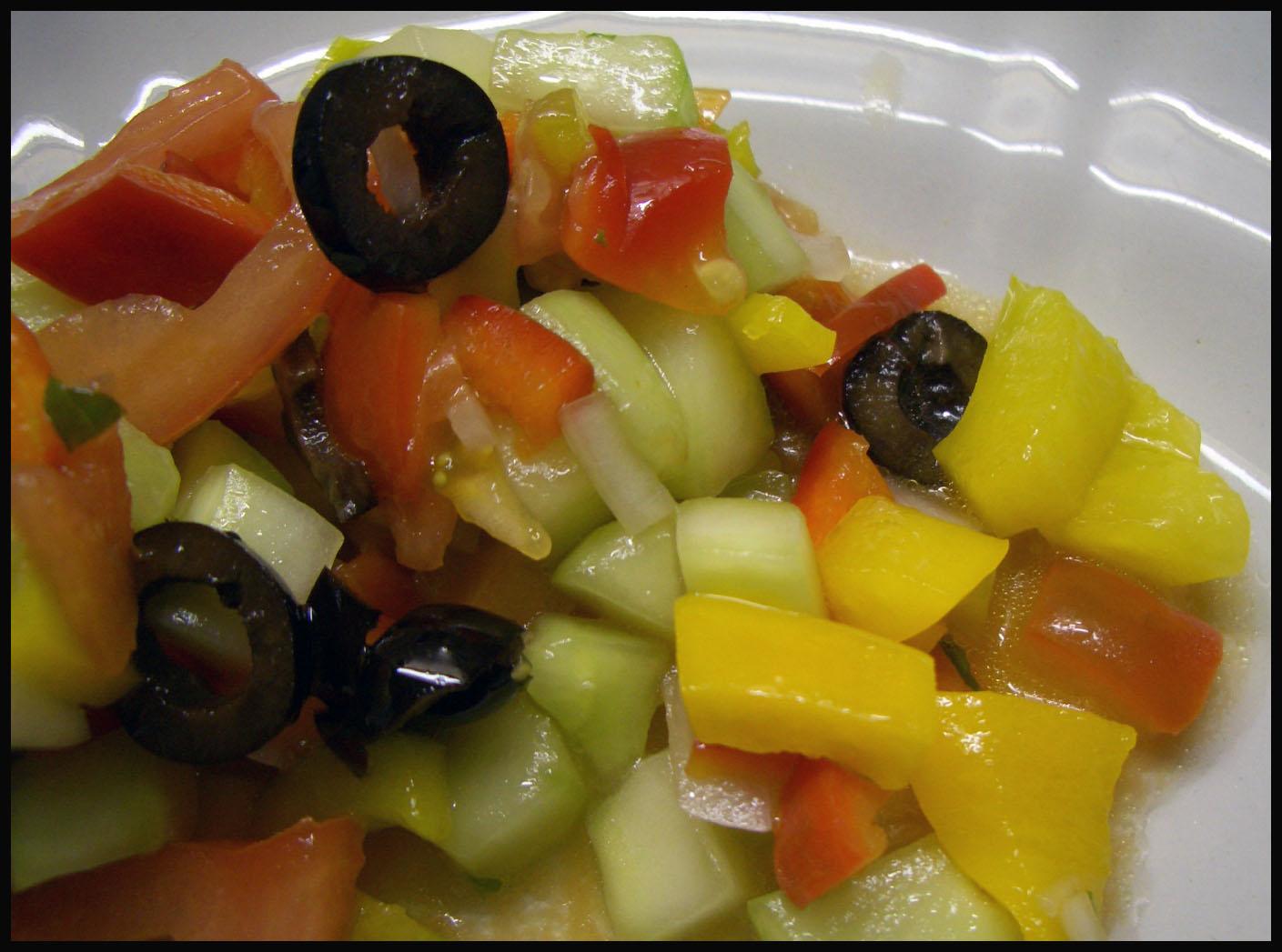 Die lorbeerkrone insalata di cetrioli pomodori e for Cucinare cetrioli