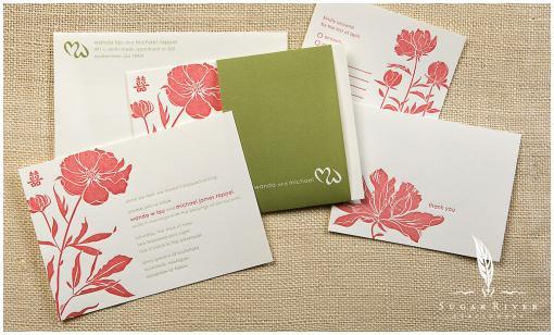 Wedding Invitations Coral Color: Miss Blossom Design™ Style Inspiration Blog: Graphic, Web