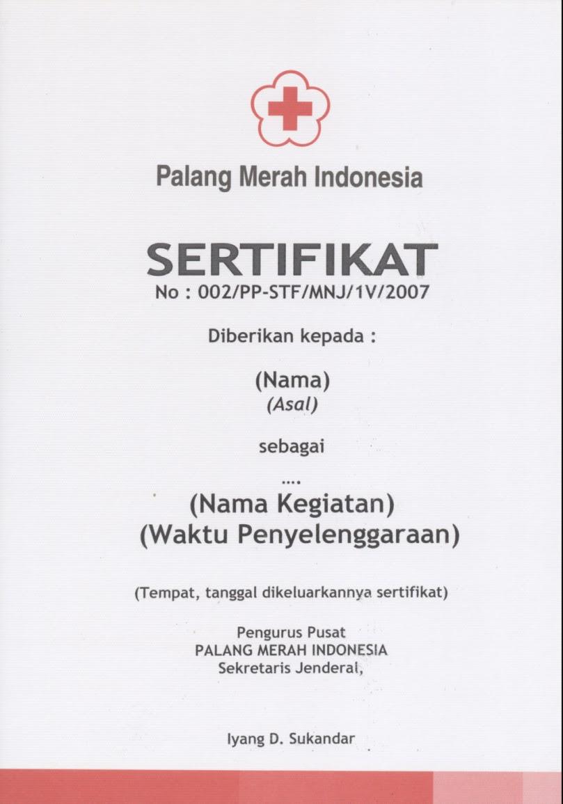 Pmr Smk Pgri 4 Ngawi Ketentuan Sertifikat