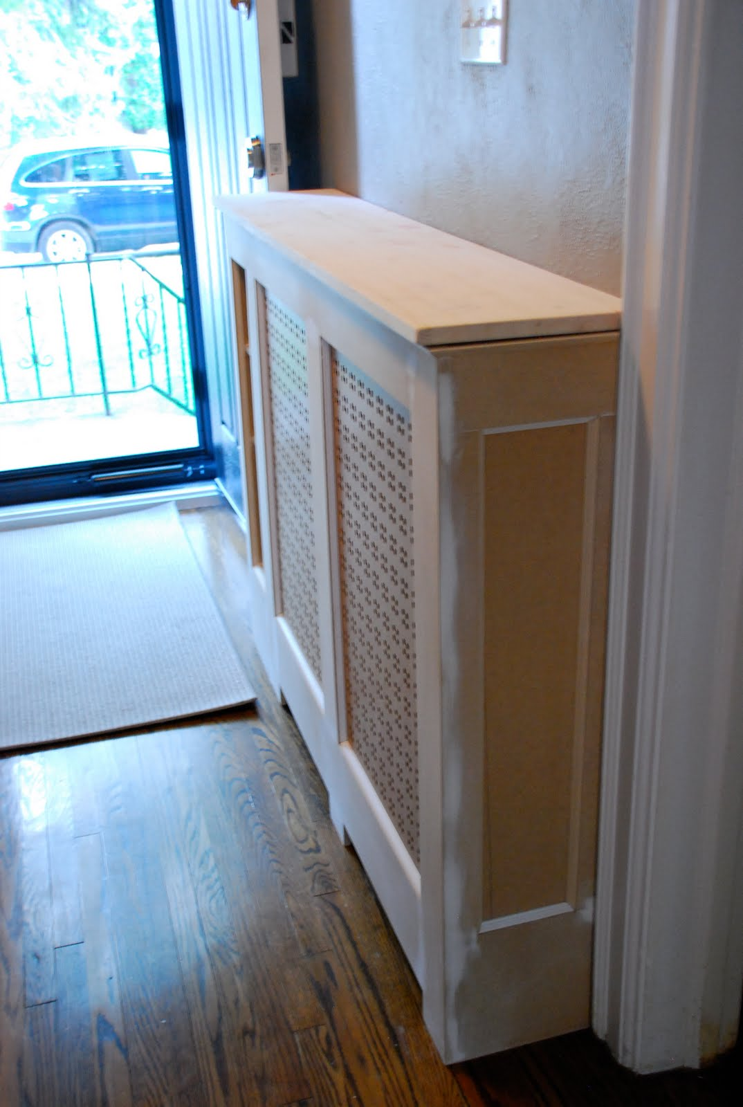 diy radiator cover, how to build a radiator cover, radiator cover ideas