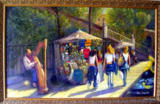 """ Shopping in Rome 3ft. x5ft. oil on canvas"