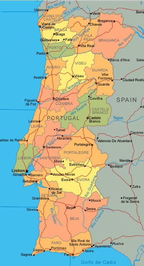 Cartina Fisica E Politica Del Portogallo.Geopolitica Stati Del Mondo 141 Portogallo