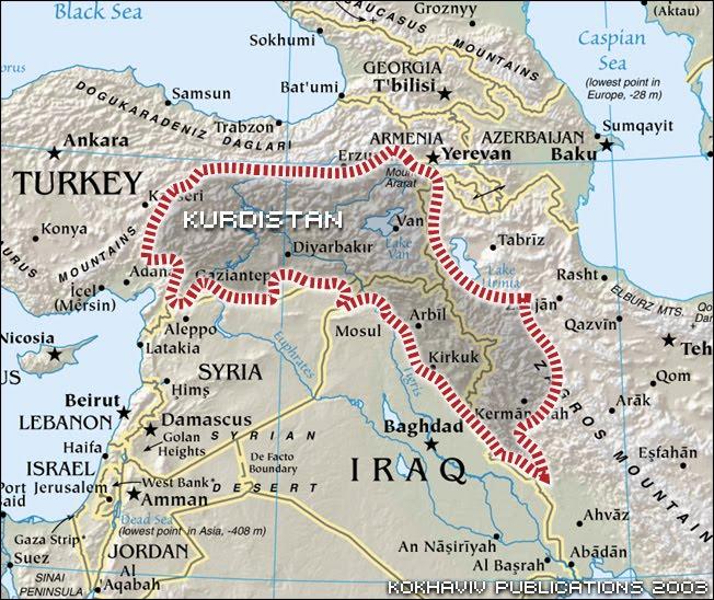 Cartina Kurdistan.Geopolitica Stati Del Mondo 182 Turchia