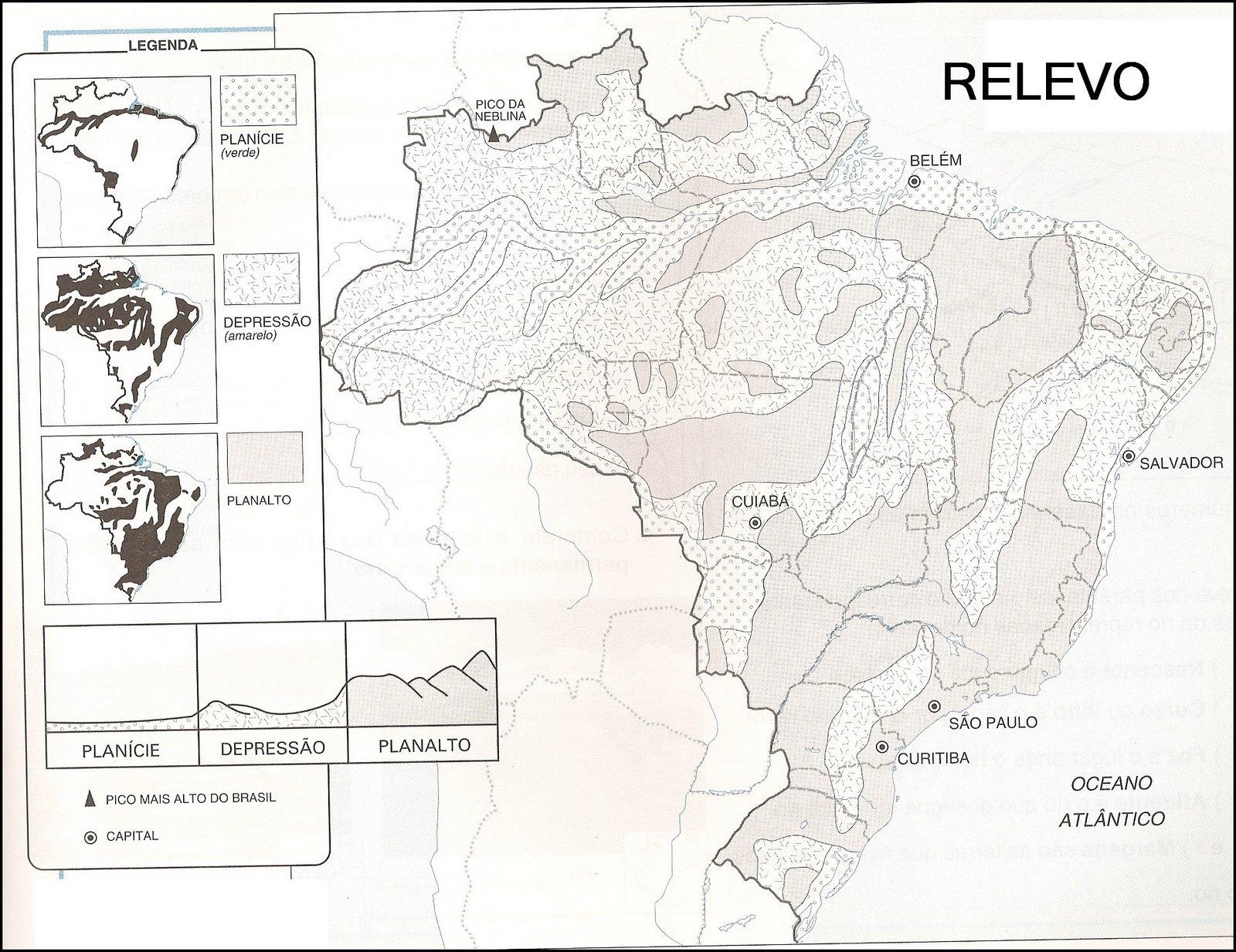 Relevo Classificacao Do Relevo Brasileiro Segundo Jurandyr L S