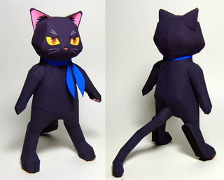 Anime Black Cat Papercraft