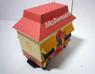McDonalds Big America Papercraft
