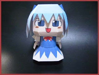 Touhou Project Cirno Papercraft