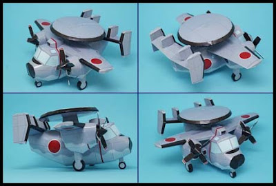 Mini Radar Plane Papercraft