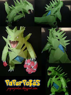 Pokemon Tyranitar Papercraft