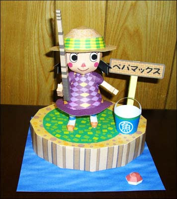 Anime Fishing Girl Papercraft