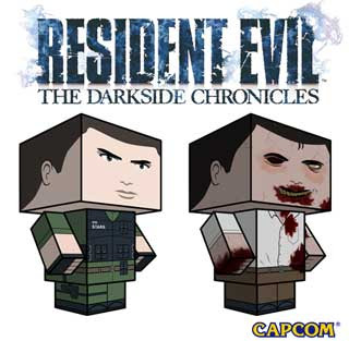 Resident Evil Papercraft - Chris Redfield x Zombie