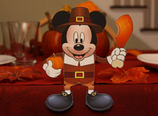 Mickey Mouse Thanksgiving Papercraft