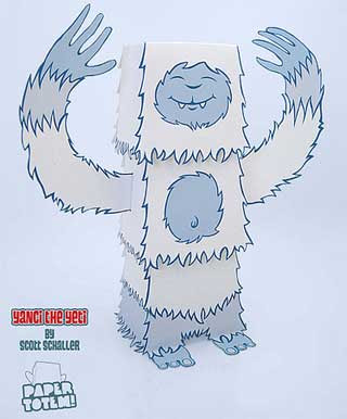 Yanci the Yeti Paper Toy