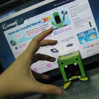 CrazyBid Paper Toy