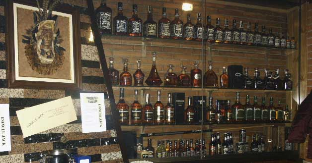 whiskey mini bar