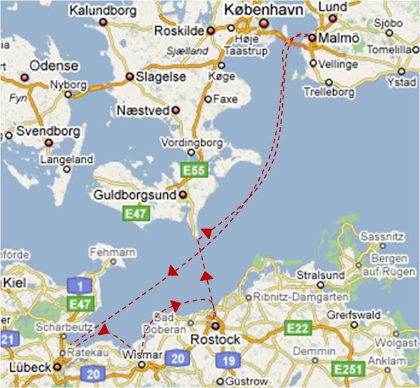 rostock karta Skeppslaget   följ Tvekamp av Elbogens resa rostock karta