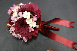 Wedding Paper Flower Bouquet For Desiree Of Dahlias Dogwoods And