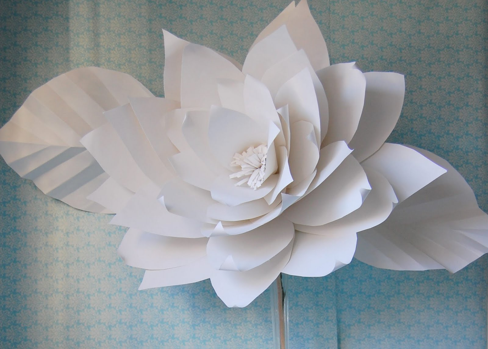 Chanel show inspired huge large white paper flowers ...