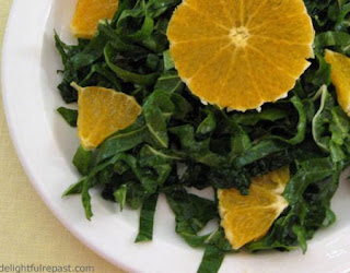 Chard and Kale Salad / www.delightfulrepast.com
